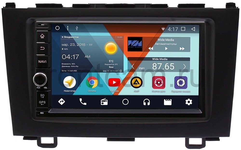 Штатная магнитола Wide Media WM-VS7A706NB-2/16-RP-HNCRB-45 для Honda CR-V III 2007-2012 Android 7.1.2 (+ Камера заднего вида в подарок!) штатная магнитола wide media wm vs7a706 oc 2 32 rp chkm 36 для chery kimo a1 2007 2013 android 8 0 камера заднего вида в подарок