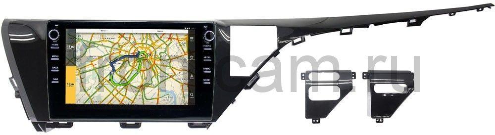 Штатная магнитола LeTrun 3149-1050 для Toyota Camry V70 2018-2021 Android 10 (DSP 2/16 с крутилками) (для авто с камерой) (+ Камера заднего вида в подарок!)