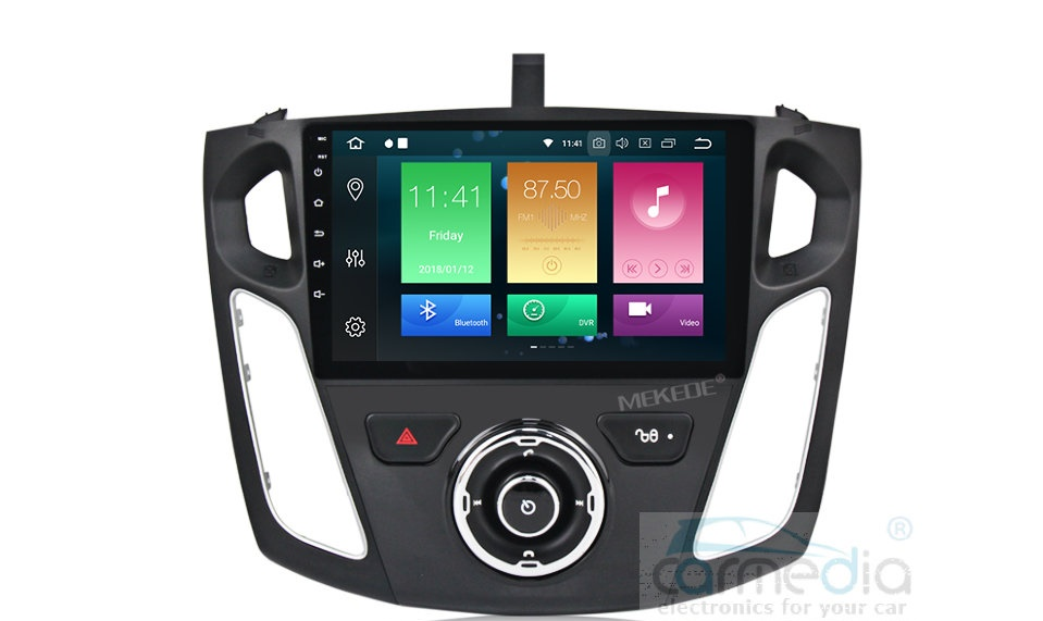 Штатная магнитола CARMEDIA MKD-F101-P30-8 Ford Focus 2011+ Android 9.0 (+ камера заднего вида) камера заднего вида для bmw intro vdc 041 bmw 3er e90 2005 2011 bmw 3er e91 2005 2011 bmw 3er e92 2006 2011 bmw x1 e84 2012 2016 bmw x5 e53 2007 2011 bmw x6 e71 e72 2008 2011