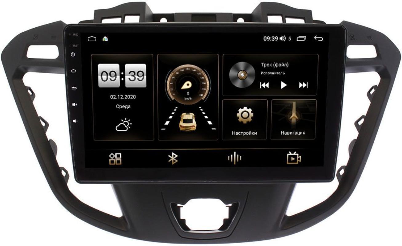 Штатная магнитола Ford Transit, Tourneo Custom 2012-2021 (для компл. с CD) LeTrun 4196-9178 на Android 10 (6/128, DSP, QLed) С оптическим выходом (+ Камера заднего вида в подарок!)