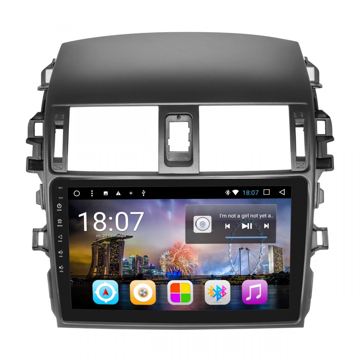 Штатное головное устройство MyDean B063 для Toyota Corolla (2006-2013) (+ Камера заднего вида в подарок!) штатное головное устройство daystar ds 7047hb toyota prado 150 2013 android 6 4 ядра