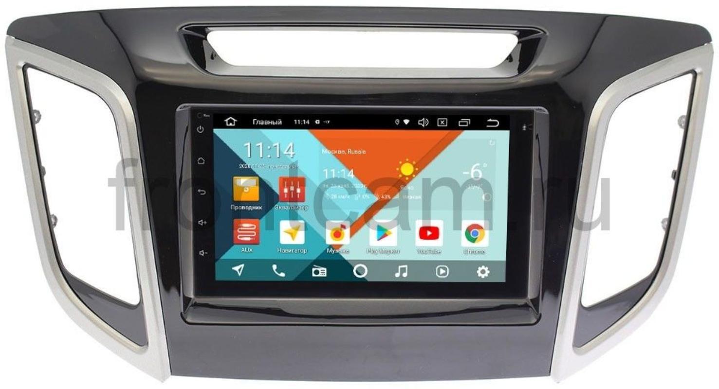 Штатная магнитола Hyundai Creta 2016-2019 Wide Media KS7001QR-3/32-RP-HDI25N-111 на Android 10 (DSP CarPlay 4G-SIM) (+ Камера заднего вида в подарок!)