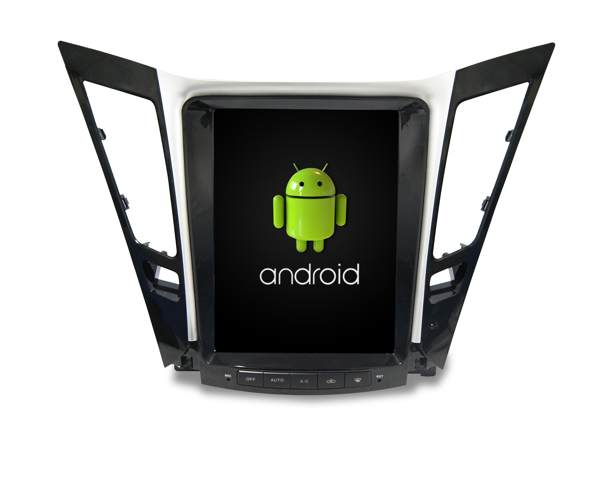 Штатная магнитола CARMEDIA SP-10405 Tesla-Style для Hyundai Sonata YF 2010-2013 Android 7.1.2 vivibright gp90 lcd projector 3200 lumens android 4 44 os
