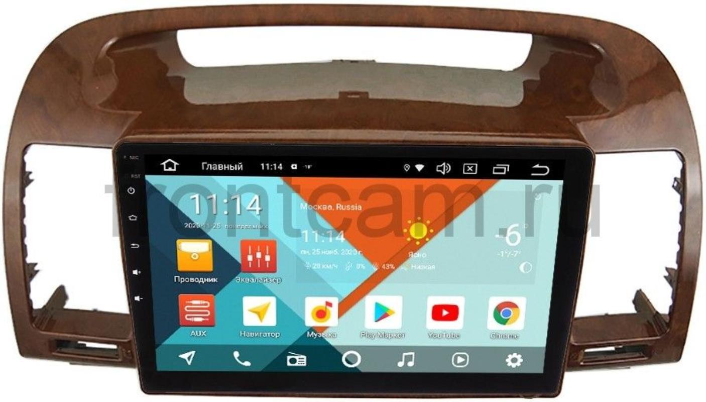 Штатная магнитола Toyota Camry V30 2001-2006 (под дерево) Wide Media KS9-961QR-3/32 DSP CarPlay 4G-SIM Android 10 (+ Камера заднего вида в подарок!)