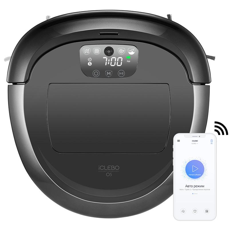 Робот-пылесос iCLEBO O5 WiFi (+ Автомобильные коврики в подарок!)