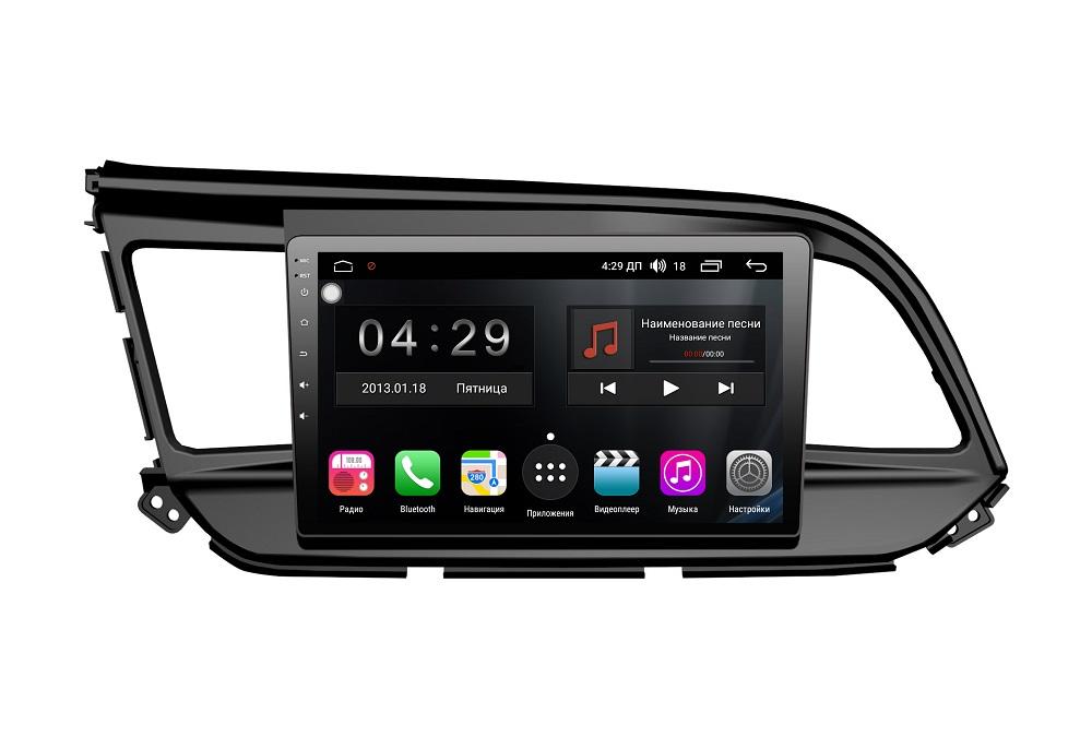 Штатная магнитола FarCar s300 для Hyundai Elantra 2018+ на Android (RL1159R) (+ Камера заднего вида в подарок!)