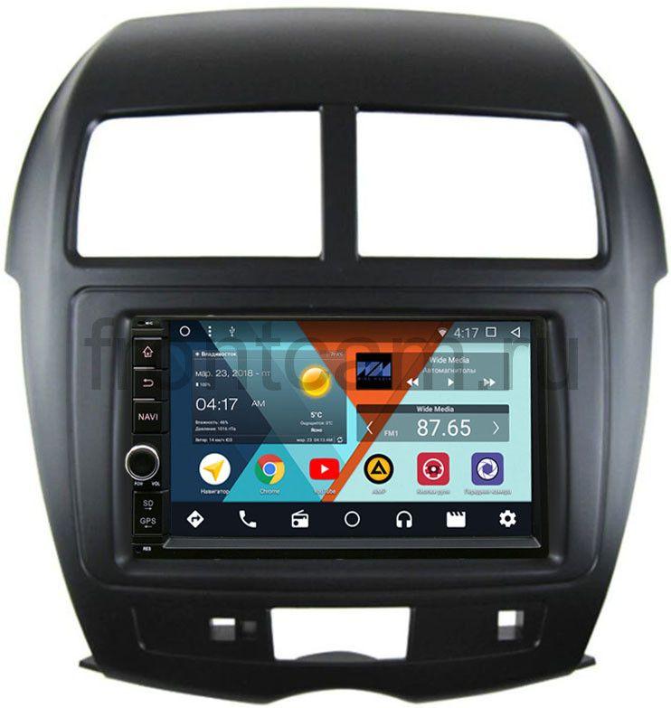 Штатная магнитола Mitsubishi ASX I 2010-2018 Wide Media WM-VS7A706NB-1/16-RP-MMASX-69 Android 7.1.2 (+ Камера заднего вида в подарок!) штатная магнитола mitsubishi asx i 2010 2018 wide media mt7001 rp mmasx 69 на android 7 1 1 камера заднего вида в подарок