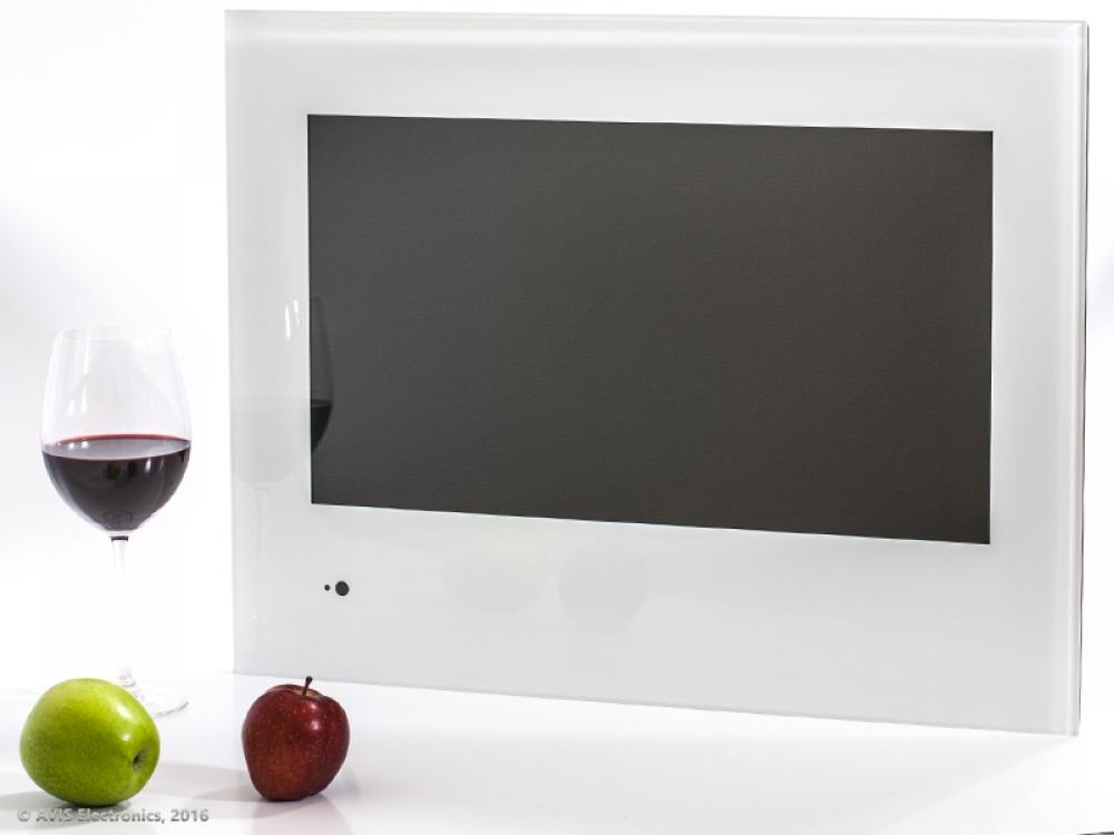Встраиваемый телевизор для кухни AVS220K (белая рамка)