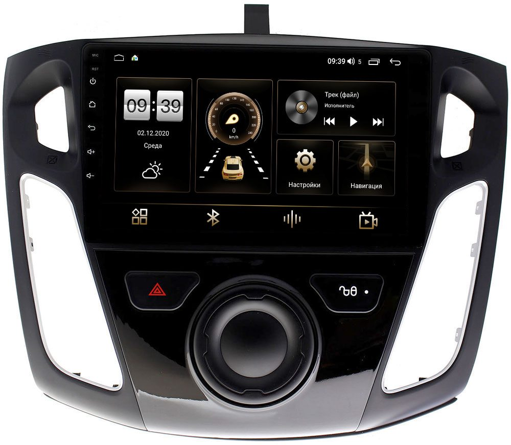 Штатная магнитола Ford Focus III 2011-2020 LeTrun 3792-9065 на Android 10 (4/64, DSP, QLed) С оптическим выходом (+ Камера заднего вида в подарок!)