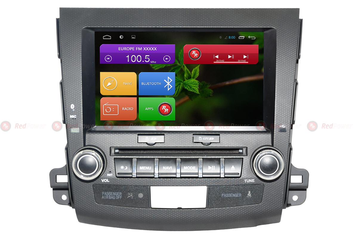 Штатная магнитола Redpower 31056 IPS DSP Mitsubishi Outlander XL (06-12); Peugeot 4007 Android 7 (+ Камера заднего вида в подарок!)
