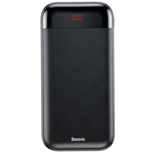 цена на Портативное зарядное устройство Baseus Mini Cu Digital Display Power Bank 20000mAh Черный