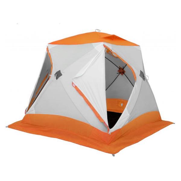 Зимняя палатка Лотос Куб 3 Классик С9 (оранжевая) (+ Дарим комплект ввертышей для палаки.)