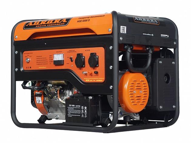 Генератор бензиновый Aurora AGE 6500 D генератор бензиновый kipor kge 12 e