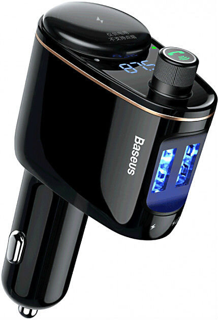 Автомобильное зарядное устройство с FM-трансмиттером 2xUSB Baseus Locomotive Bluetooth MP3 mp3 плеер с трансмиттером