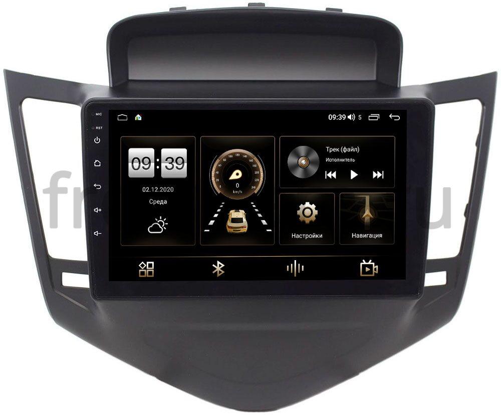 Штатная магнитола LeTrun 4196-9010 для Chevrolet Cruze I 2009-2012 (черная) на Android 10 (6/128, DSP, QLed) С оптическим выходом (+ Камера заднего вида в подарок!)