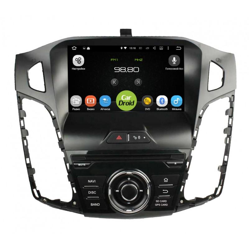 Штатная магнитола Roximo CarDroid RD-1701D для Ford Focus 3 (Android 8.0) DSPRoximo<br>Магнитолы CarDroid - это новейшее поколение штатных головных устройств.  Восьмиядерный процессор RockChip RK3368 1.5GHz 64-bit SoC Octa-core Cortex-A53 и 4Гб оперативной памяти обеспечат надежную работу устройства и установленных приложений.