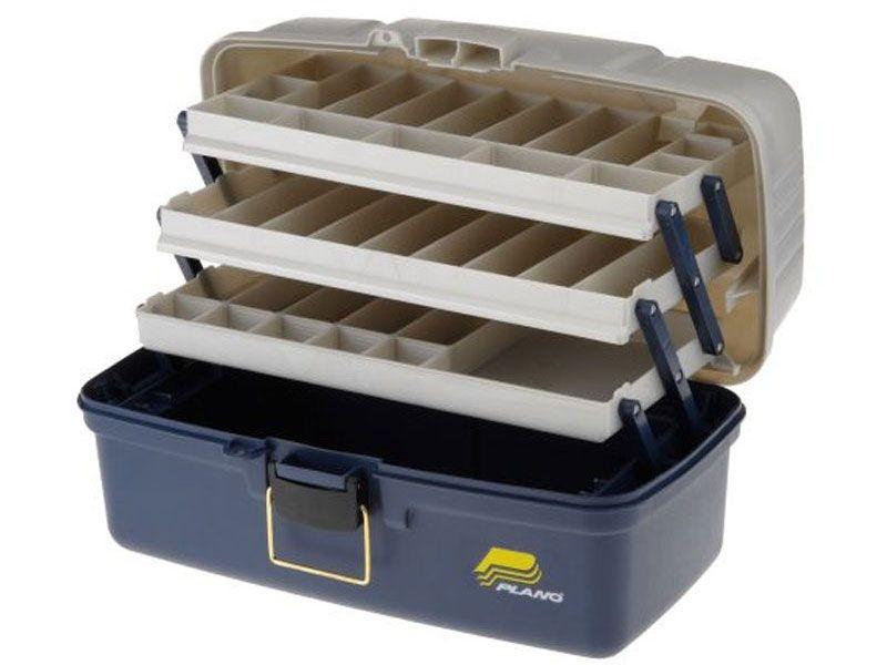 Ящик PLANO 6133-06 с 3х уровневой системой хранения приманок ящик plano 6134 02 613403 с 3х уровневой системой хранения приманок 29 39 отсеков