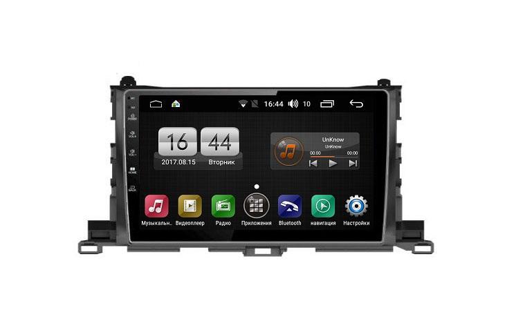Штатная магнитола FarCar s195 для Toyota Highlander 2014+ на Android (LX467R) (+ Камера заднего вида в подарок!)