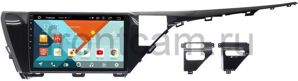 Штатная магнитола Wide Media KS1050QR-3/32 DSP CarPlay 4G-SIM для Toyota Camry V70 (для авто с камерой) Android 10 (+ Камера заднего вида в подарок!)