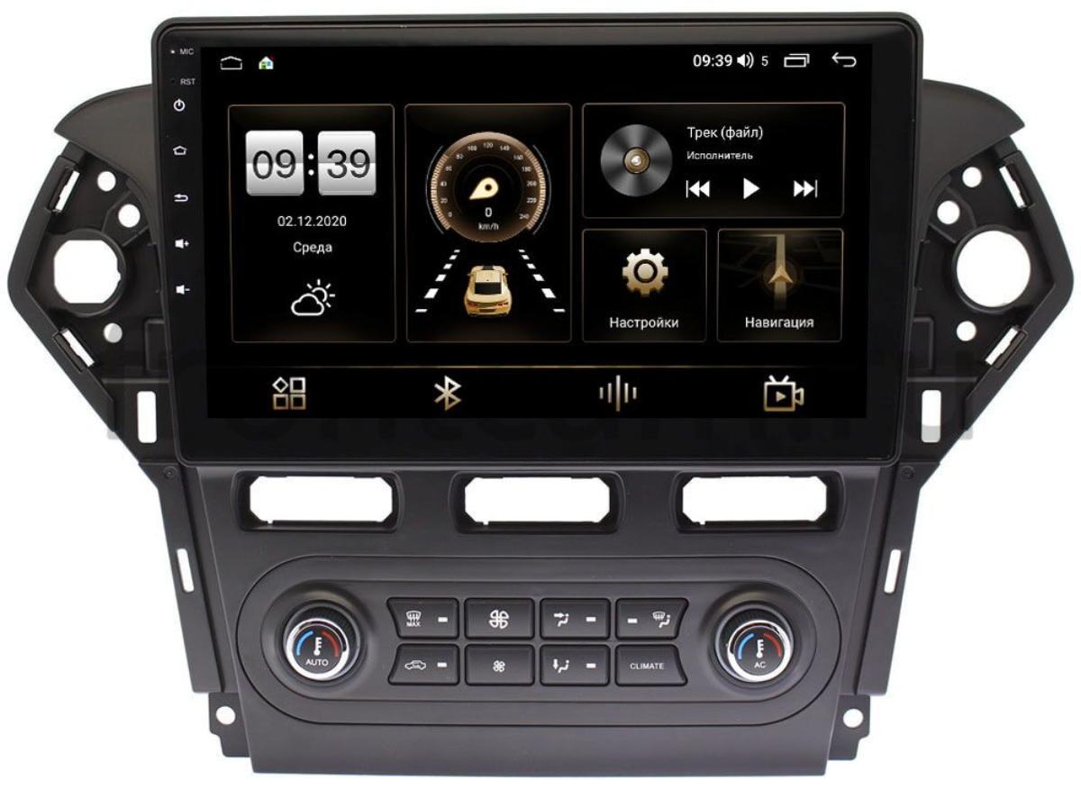 Штатная магнитола Ford Mondeo IV 2007-2015 (черная) LeTrun 4165-1018 для авто с Blaupunkt на Android 10 (4G-SIM, 3/32, DSP, QLed) (+ Камера заднего вида в подарок!)