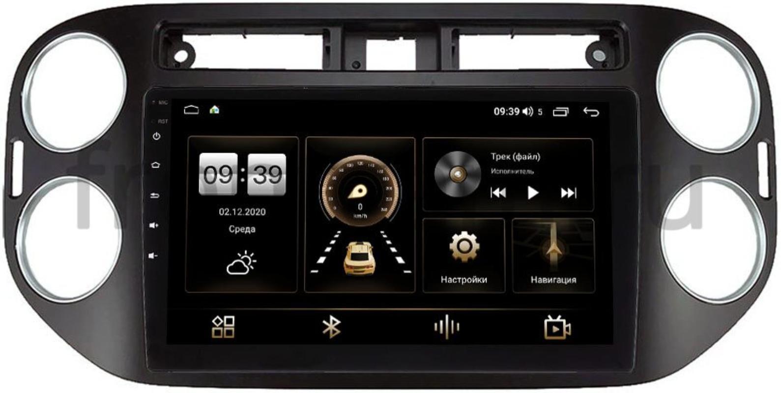 Штатная магнитола Volkswagen Tiguan 2011-2016 LeTrun 4166-9-1042 на Android 10 (4G-SIM, 3/32, DSP, QLed) (+ Камера заднего вида в подарок!)