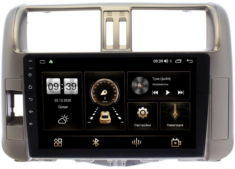 Штатная магнитола LeTrun 3792-9005 для Toyota LC Prado 150 2009-2013 (для авто с усилителем) на Android 10 (4/64, DSP, QLed) С оптическим выходом (+ Камера заднего вида в подарок!)