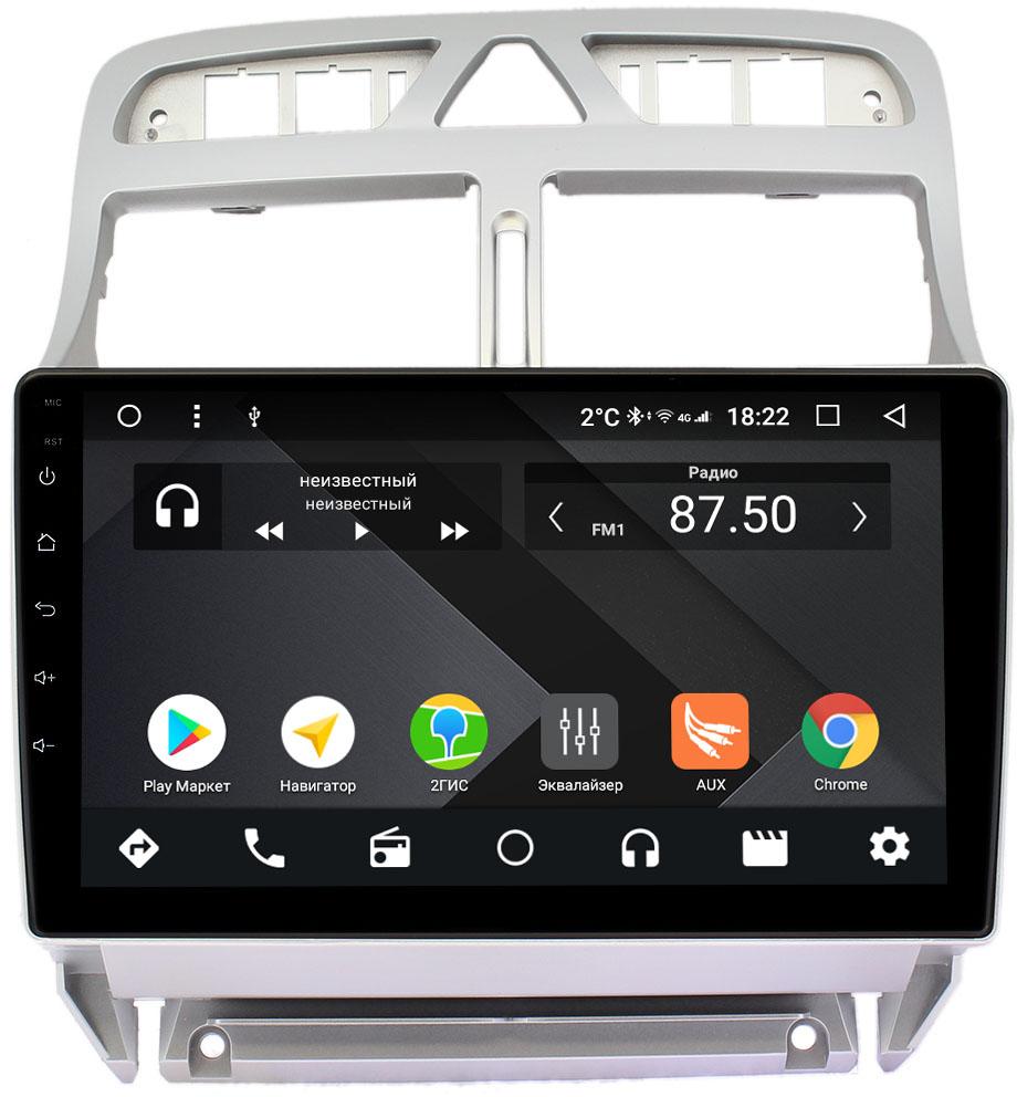 Штатная магнитола Peugeot 307 I 2001-2008 (тип 2) Wide Media CF9101-OM-4/64 на Android 9.1 (TS9, DSP, 4G SIM, 4/64GB) (+ Камера заднего вида в подарок!)