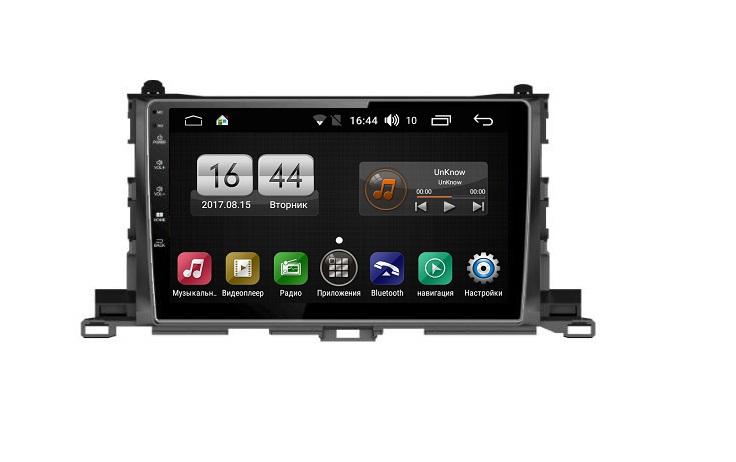 Штатная магнитола FarCar s185 для Toyota Highlander 2014+ на Android (LY467R) (+ Камера заднего вида в подарок!)