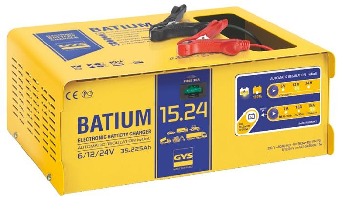 Картинка для Автоматическое микропроцессорное зарядное устройство GYS BATIUM 15-24 (+ Салфетки из микрофибры для любых задач в подарок!)