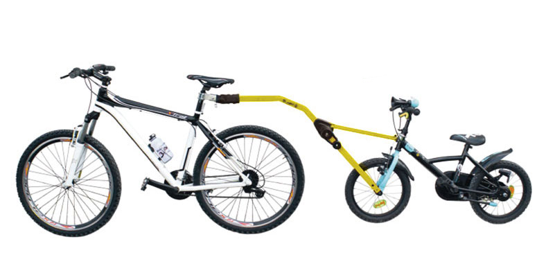 Прицепное устройство PERUZZO Trail Angel детского велосипеда к взрослому желтое крепление peruzzo roma tandem 500604
