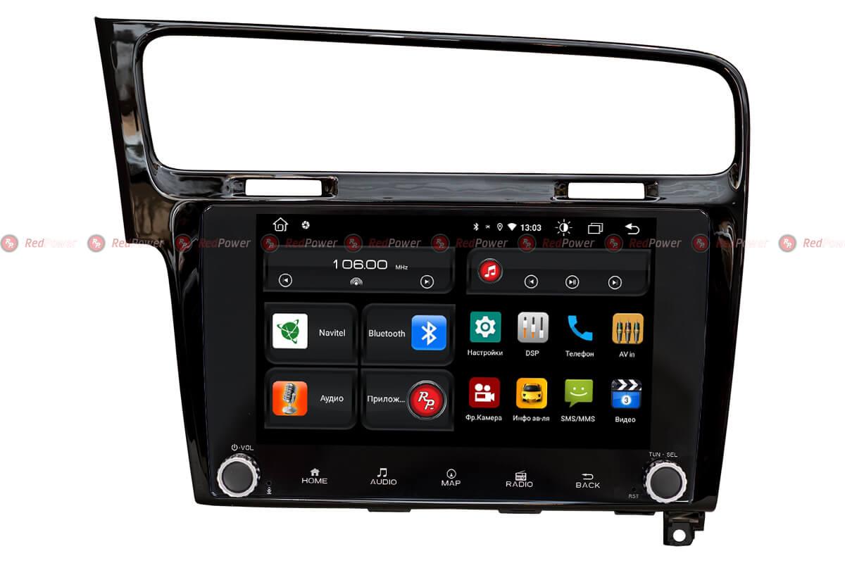 Автомагнитола для Volkswagen Golf 7 RedPower 61006 KNOB (черный глянец) (+ Камера заднего вида в подарок!)