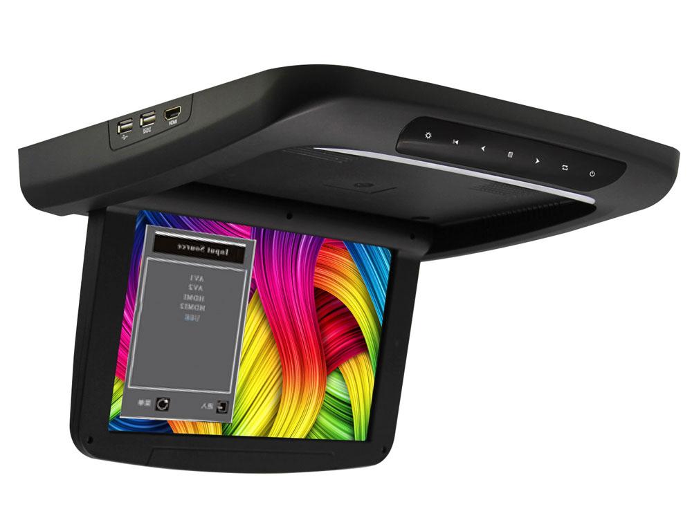 Автомобильный потолочный монитор 10.1 с медиаплеером FarCar-Z005 (черный) (+ Двухканальные наушники в подарок!)