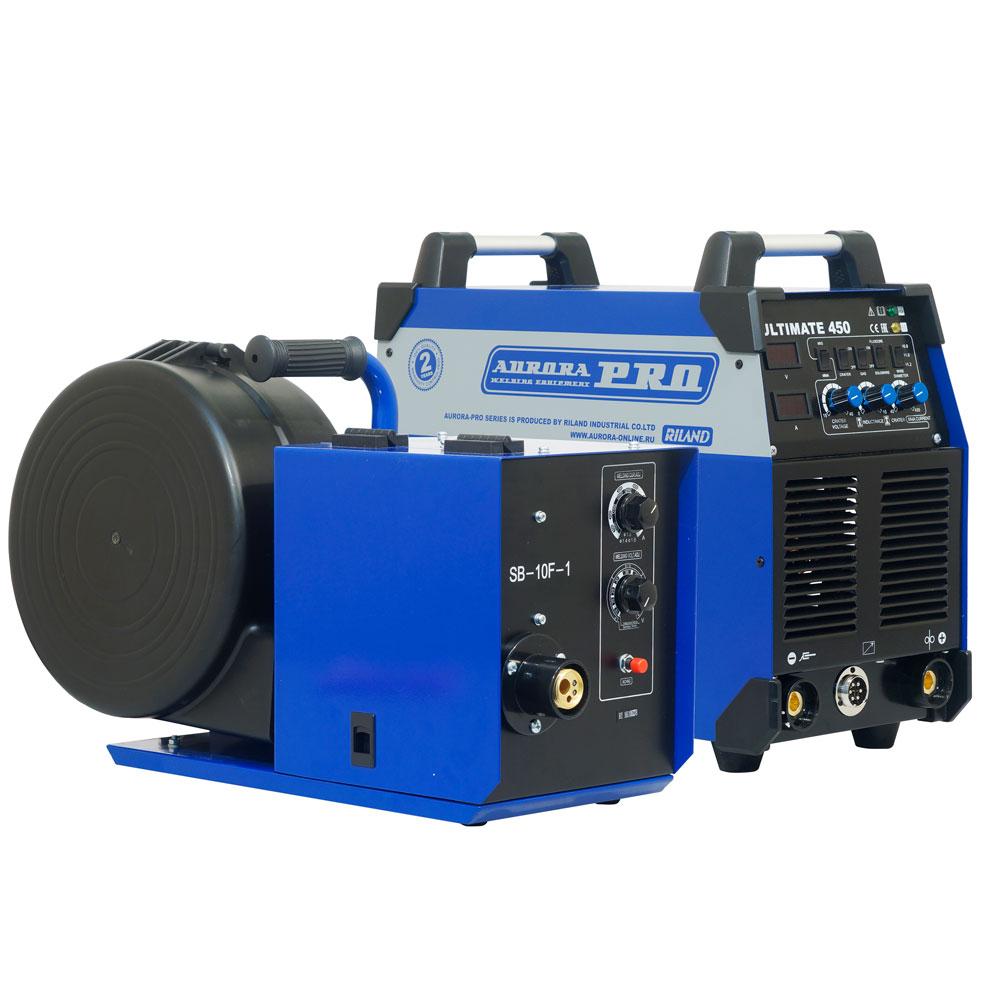 цена на Сварочный полуавтомат AuroraPRO ULTIMATE 450 с закрытым подающим механизмом (MIG/MAG+MMA)