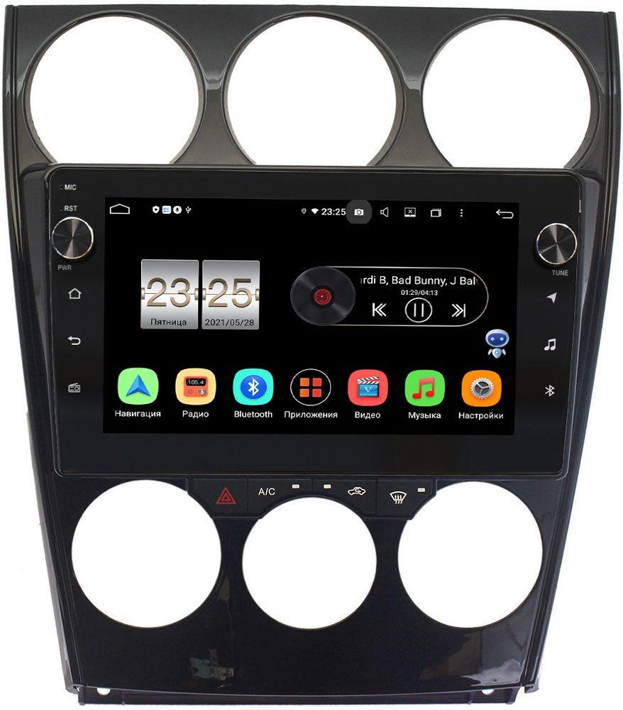 Штатная магнитола Mazda 6 (GG) 2002-2007 LeTrun BPX409-9160 на Android 10 (4/32, DSP, IPS, с голосовым ассистентом, с крутилками) (+ Камера заднего вида в подарок!)