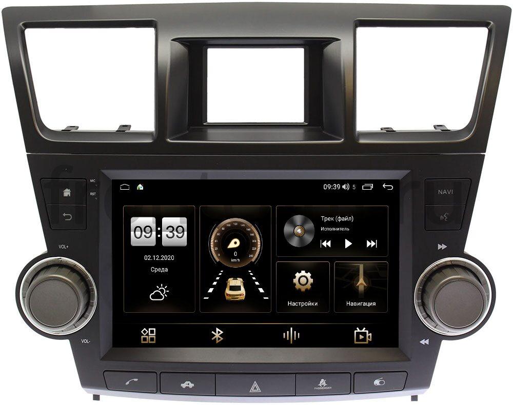 Штатная магнитола Toyota Highlander (U40) 2007-2013 LeTrun 4196-9-ALHLDH012-КНОПКА на Android 10 (6/128, DSP, QLed) С оптическим выходом (+ Камера заднего вида в подарок!)