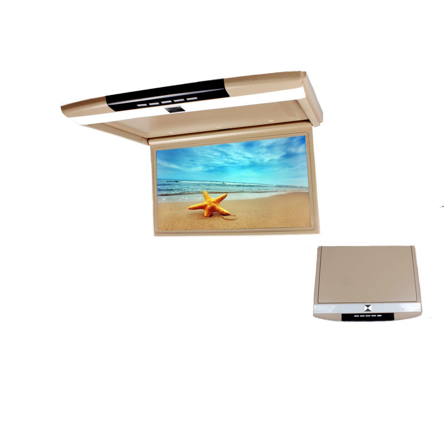 Автомобильный потолочный монитор 17.3 с медиаплеером FarCar-Z002 (бежевый) (+ Двухканальные наушники в подарок!)