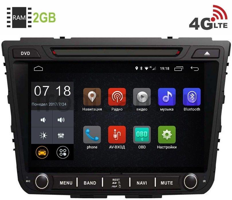 Штатная магнитола Hyundai Creta 2016-2018 LeTrun 2221 Android 6.0.1 (4G LTE 2GB) штатная магнитола letrun 1867 для kia sportage 2010 2016 android 6 0 1