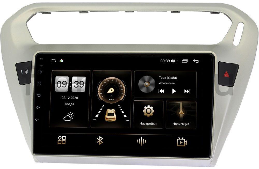 Штатная магнитола Peugeot 301 I 2012-2020 LeTrun 3792-9118 на Android 10 (4/64, DSP, QLed) С оптическим выходом (+ Камера заднего вида в подарок!)