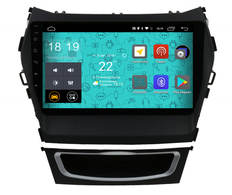 цены Штатная магнитола Parafar 4G/LTE с IPS матрицей для Hyundai Santa Fe 3 2012+ на Android 7.1.1 (PF209) (+ Камера заднего вида в подарок!)