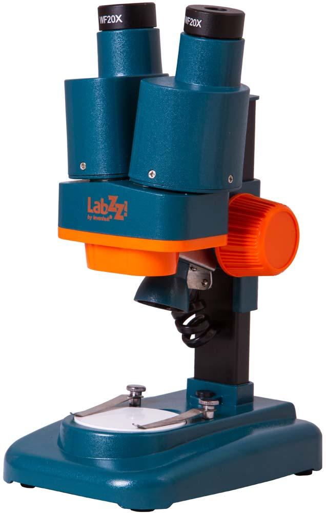 Фото - Микроскоп Levenhuk LabZZ M4 стерео (+ Книга «Невидимый мир» в подарок!) микроскоп levenhuk labzz m101 orange апельсин книга знаний невидимый мир в подарок