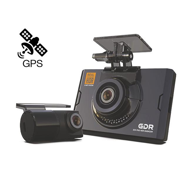 Видеорегистратор с двумя камерами GNet GDR GPS (+ Антисептик-спрей для рук в подарок!)