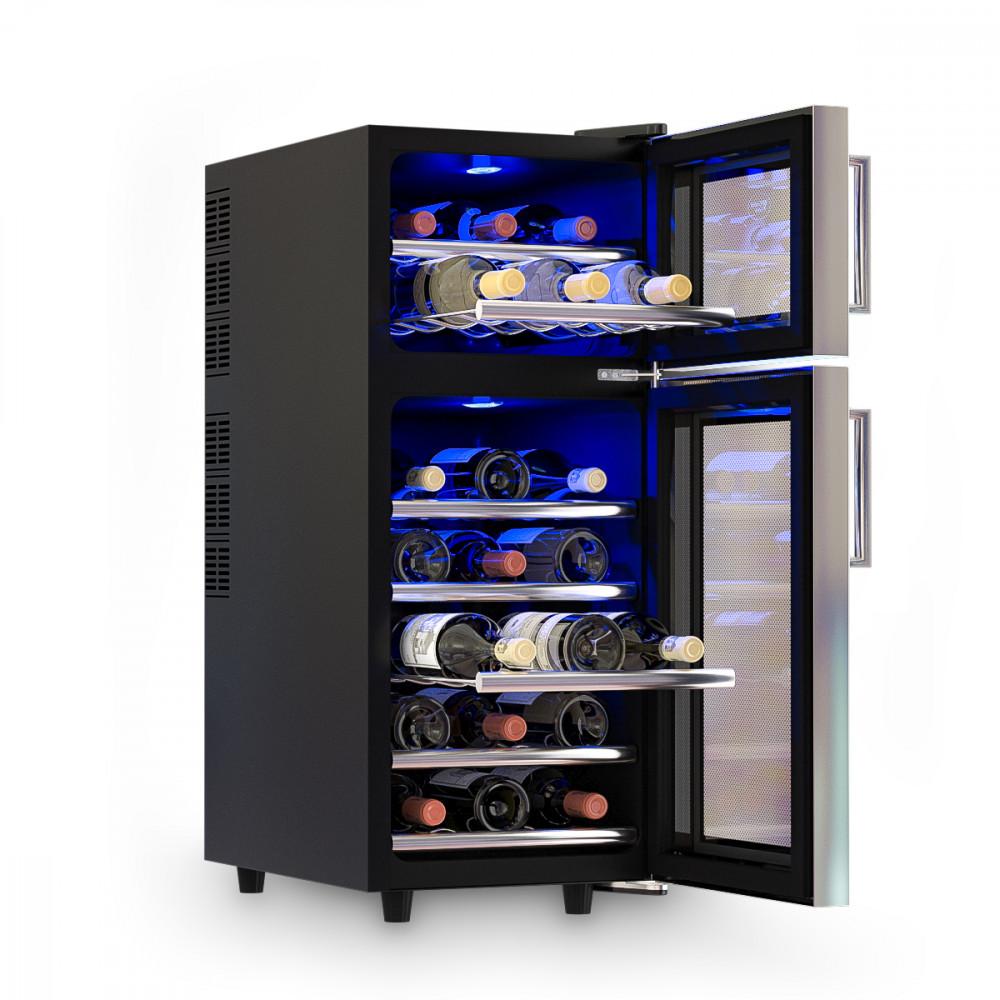 лучшая цена Двухзонный винный шкаф COLD VINE C21-TBF2