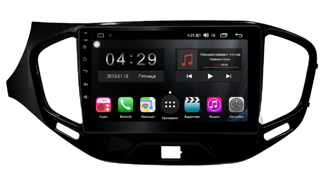 Штатная магнитола FarCar s300 для Lada Vesta на Android (RL1205R) (+ Камера заднего вида в подарок!)