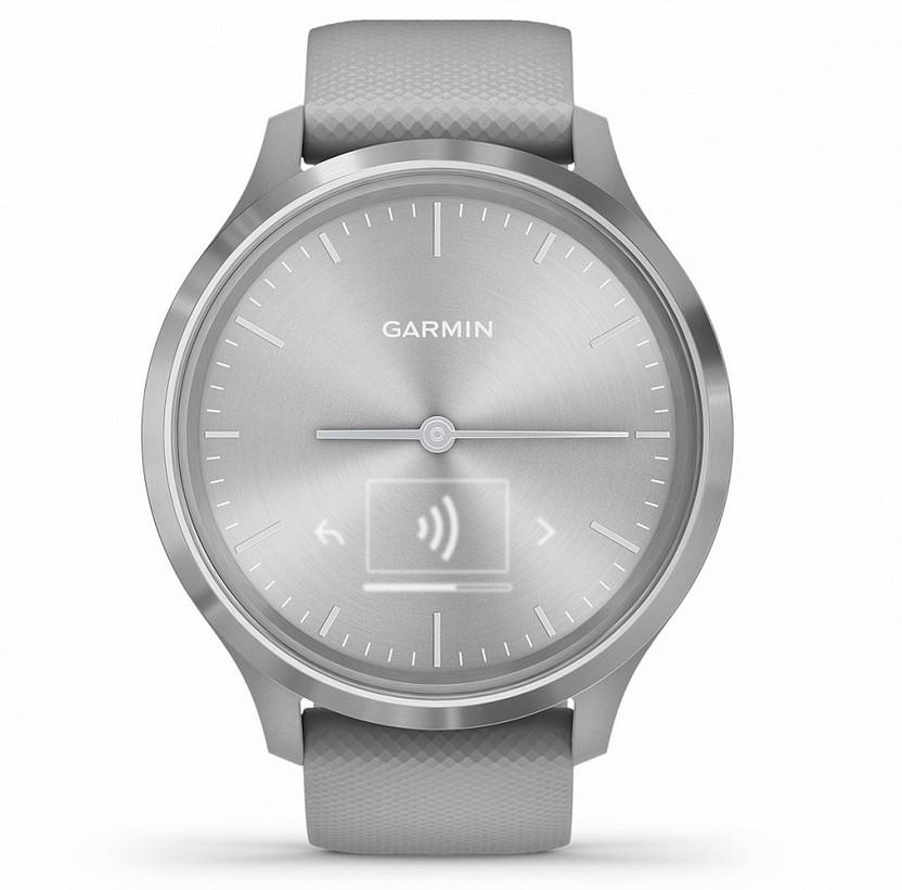Garmin Vivomove 3 серебристые с серым силиконовым ремешком умные часы garmin vivomove 3 черные с черным силиконовым ремешком