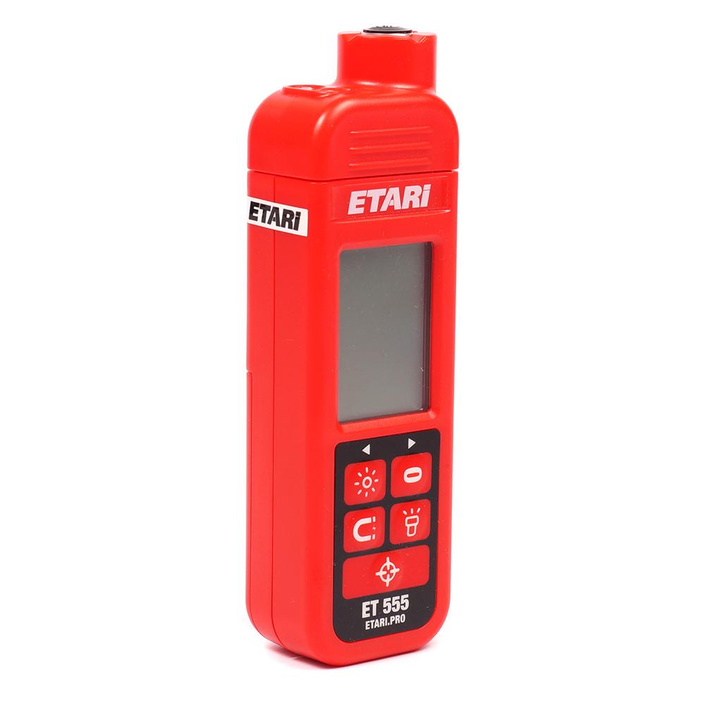 Толщиномер лакокрасочного покрытия Etari ET 555 (+ Два чехла и батарейки в подарок!) толщиномер лакокрасочного покрытия etari ет 600 батарейки в подарок