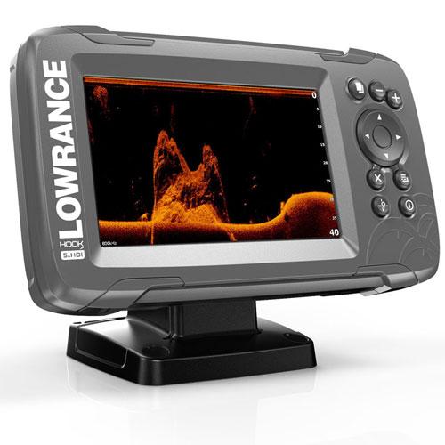 Эхолот Lowrance HOOK2 5x GPS Splitshot (000-14016-001) (+ Аккумулятор + З/У + Струбцина) цена