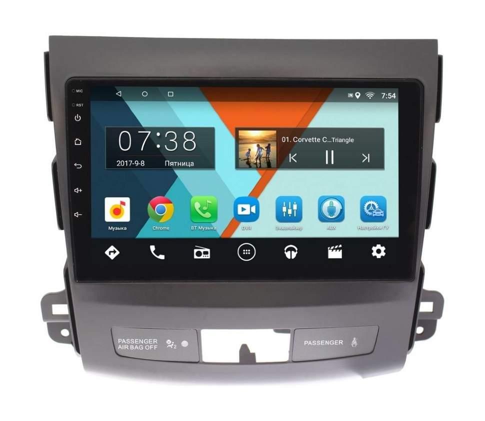 Штатная магнитола Mitsubishi Outlander II (XL) 2006-2012 Wide Media CF9058-OM-4/64 для авто c Rockford на Android 9.1 (TS9, DSP, 4G SIM, 4/64GB) (+ Камера заднего вида в подарок!) штатная магнитола mitsubishi outlander ii xl 2006 2012 letrun 2230 на android 7 1 1 allwinner t3