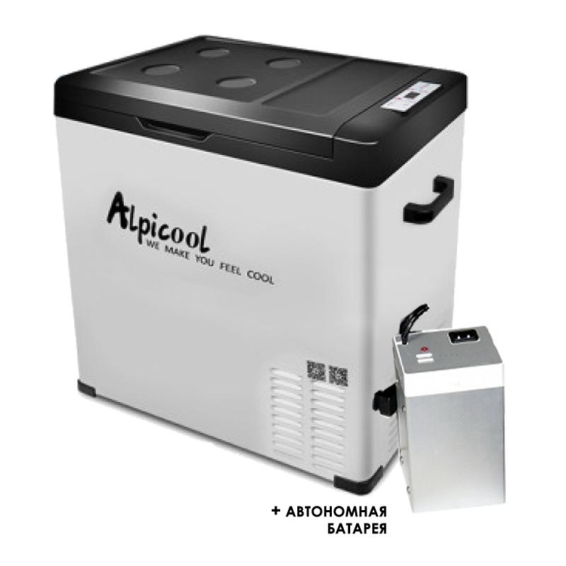 Kомпрессорный автохолодильник ALPICOOL C75 с внешней батареей kомпрессорный автохолодильник alpicool cf 55 55л 12 24 220в