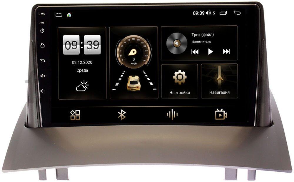 Штатная магнитола LeTrun 4196-9231 для Renault Megane II 2002-2009 на Android 10 (6/128, DSP, QLed) С оптическим выходом (+ Камера заднего вида в подарок!)