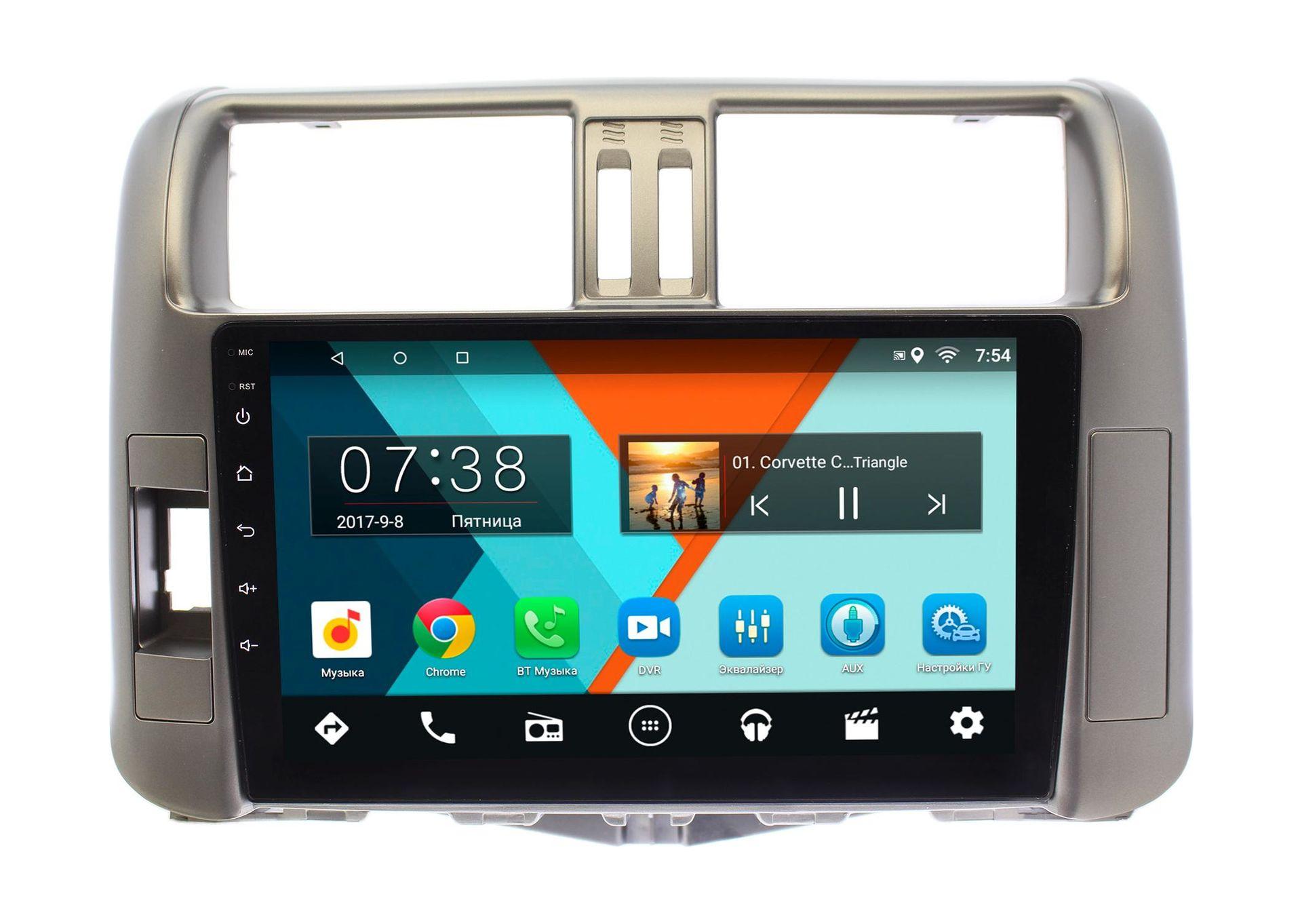 Штатная магнитола Wide Media MT9005MF для Toyota LC Prado 150 2009-2013 (для авто с усилителем) на Android 6.0.1 литой диск replikey rk9621 toyota lc prado 150 8 5x20 6x139 7 d106 2 et20 gmf